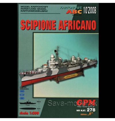 Vystrihovačka papierový model lodi Scipione Africano -set