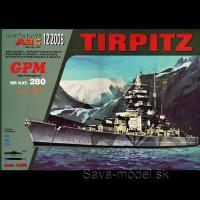 Vystrihovačka papierový model lodi Tirpitz