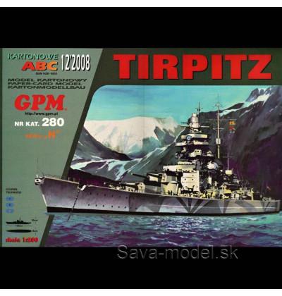 Vystrihovačka papierový model lodi Tirpitz -set