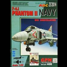 Vystrihovačka papierový model lietadla F-4 J Phantom II NAVY
