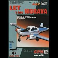 Vystrihovačka papierový model lietadla LET L-200 Morava -set