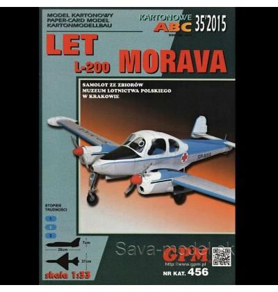 Vystrihovačka papierový model lietadla LET L-200 Morava
