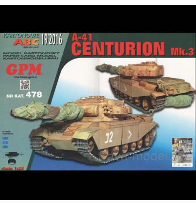 Vystrihovačka papierový model tanku A-41 Centurion Mk.3