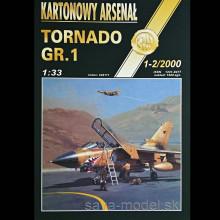 Vystrihovačka papierový model lietadla Tornado GR.1