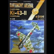 Vystrihovačka papierový model lietadla Ki-43 II Hayabusa