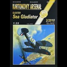 Vystrihovačka papierový model lietadla Sea Gladiator