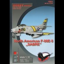 Vystrihovačka papierový model lietadla F-86 E-5 Sabre