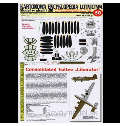 Vystrihovačka papierový model bombardéra Liberator MK. VI
