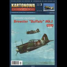 Vystrihovačka papierový model lietadla Brewster Buffalo Mk. I