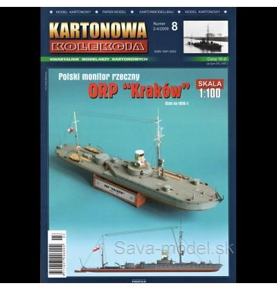 Vystrihovačka papierový model lodi ORP Kraków