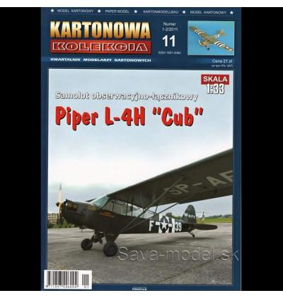 Vystrihovačka papierový model lietadla Piper L-4H CUB