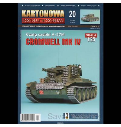 Vystrihovačka papierový model tank Cromwell Mk IV - A-27 M