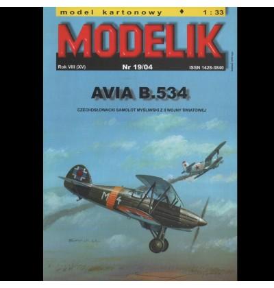 Vystrihovačka papierový model lietadla AVIA B-534