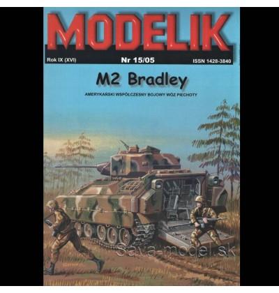 Vystrihovačka papierový model bojové vozidlo M2 Bradley