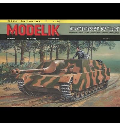 Vystrihovačka papierový model stíhača tankov Jagdpanzer IV Ausf.F