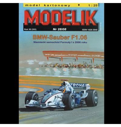 Vystrihovačka papierový model formula F1 BMW-Sauber F1.06