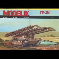 Vystrihovačka papierový model tanku IT-28