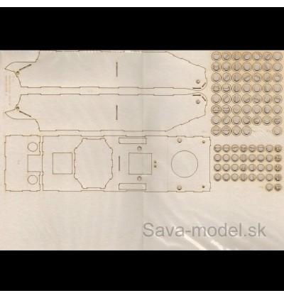 Laserom vyrezaný trup tanku IT-28