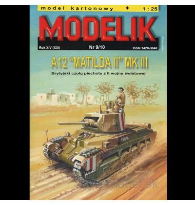 Vystrihovačka papierový model tanku A12 Matilda II - Mk III