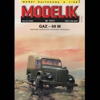 Vystrihovačka papierový model vozidla GAZ-69 M