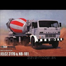 Vystrihovačka papierový model ťahača Jelcz 317D a NB-181