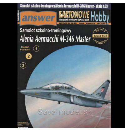 Vystrihovačka papierový model lietadla M-346 Master