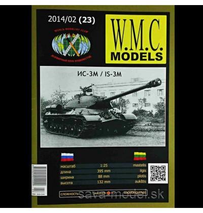 Vystrihovačka papierový model tanku IS-3 M -set