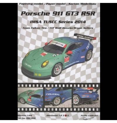 Vystrihovačka papierový model športové vozidlo Porsche 911 GT3 RSR