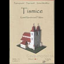 Vystrihovačka papierový model stavby Kostel Tismice