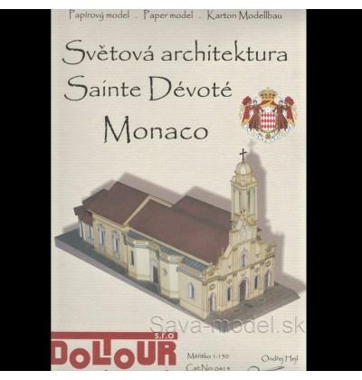 Vystrihovačka papierový model kostol Sainte Devote Monaco