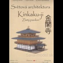 Vystrihovačka papierový model chrámu Kinkaku-ji - Zlatý pavilón