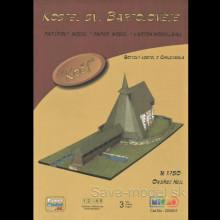 Vystrihovačka papierový model Kostel sv. Bartoloměje - Kočí