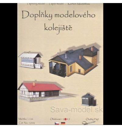 Vystrihovačka papierový model Doplňky modelového kolejiště 1:120