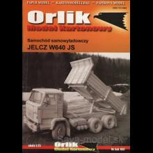 Vystrihovačka papierový model nákladného vozidla Jelcz W 640 JS