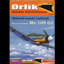 Vystrihovačka papierový model lietadla Messerchmitt Me-109 G2