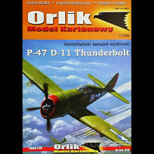 Vystrihovačka papierový model lietadla P-47 D-11 Thunderbolt