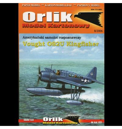 Vystrihovačka papierový model hydroplánu Vought OS2U Kingfisher