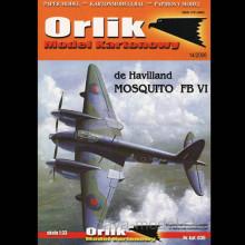 Vystrihovačka papierový model lietadla De Havilland Mosquito FB VI