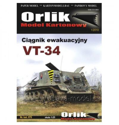 Vystrihovačka papierový model vyslobodzovací tank VT-34