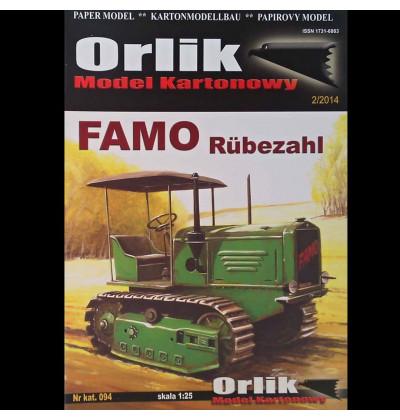 Vystrihovačka papierový model pásový traktor FAMO Rubezahl