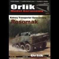 Vystrihovačka papierový model bojového vozidla KTO Rosomak