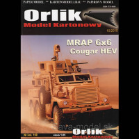Vystrihovačka papierový model bojového vozidla MRAP 6x6 Cougar HEV