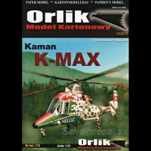 Vystrihovačka papierový model vrtuľníka Kaman K-MAX
