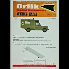 Vystrihovačka papierový model sanitky Mercedes-Benz AG
