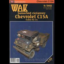 Vystrihovačka papierový model nákladné vozidlo Chevrolet C15A (Cabin 13)