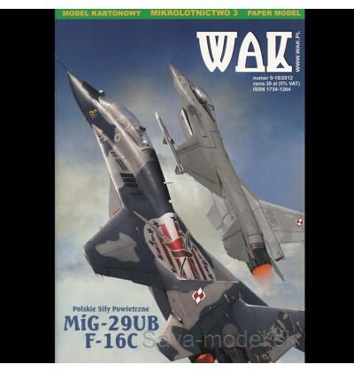 Vystrihovačka papierový model Mig-29 UB a F-16 C