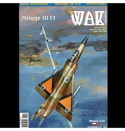 Vystrihovačka papierový model lietadla Mirage III CJ