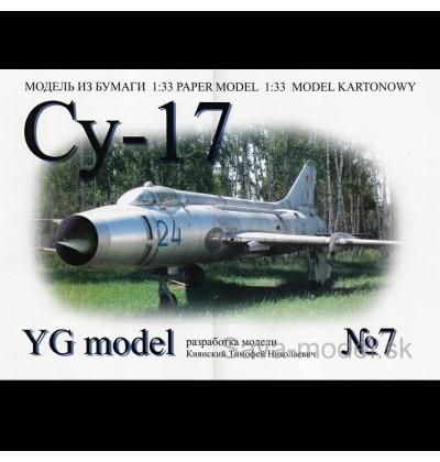 Vystrihovačka papierový model lietadla Su-17