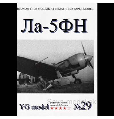 Vystrihovačka papierový model lietadla La-5 FN