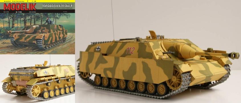 Vystrihovačka papierového modelu tanku Jagdpanzer IV